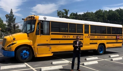 A school district here is partnering with an electric vehicle software supplier for charging management and data collection as it plans to transition to an all-electric bus fleet.