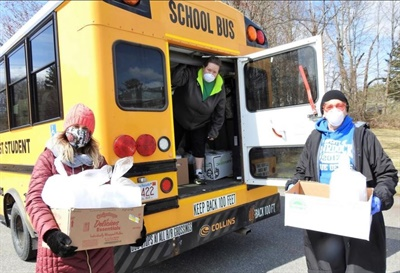 First Student school bus drivers have delivered more than one million meals, as well as instructional materials, to students across the U.S. and have also transported medical workers during school closures caused by the COVID-19 pandemic.