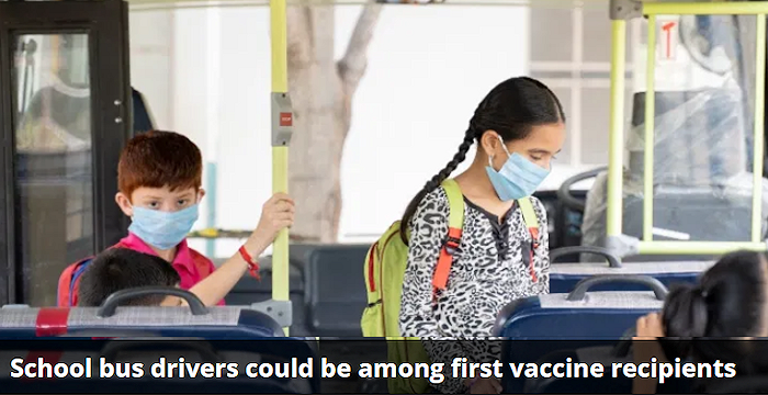 The Centers for Disease Control and Prevention (CDC) recommends that frontline essential workers and all adults over the age of 75, both groups that could include school bus drivers, be among the next recipients of the Pfizer/BioNTech and Moderna COVID-19 vaccines.
