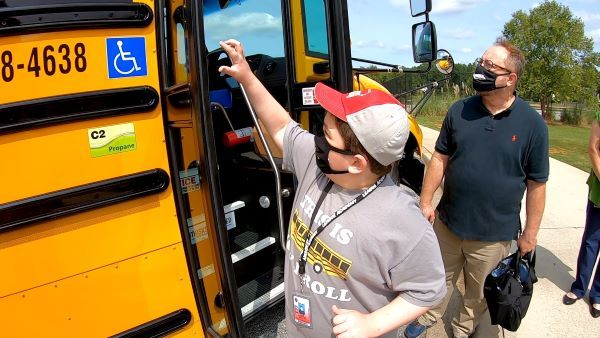 Student Jack Kendrick advocated for his school to add a propane bus to its fleet. He ended up getting one