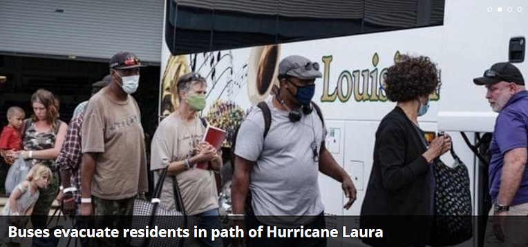 Hundreds of buses were in the Gulf Coast this week to evacuate thousands as Hurricane Laura bore down.  The situation illustrates how buses and drivers play a critical role in hurricane evacuations. The federal government depends on the industry to take people from hospitals, retirement centers and nursing homes, and relocate them to safe areas, where there are supplies stocked for them.
