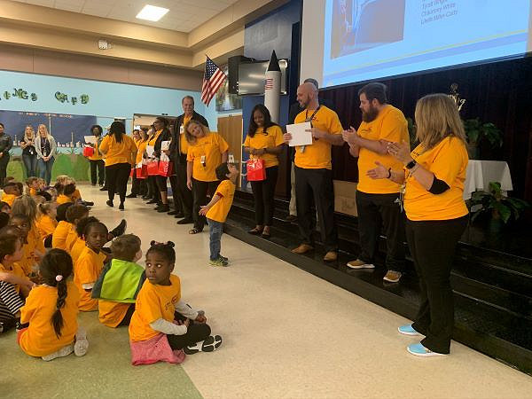 The American School Bus Council is seeking information from pupil transporters on their contributions to the industry in 2020. Shown here is the kickoff event for Love the Bus at Orange County (Fla.) Public Schools on Feb. 4, 2020.