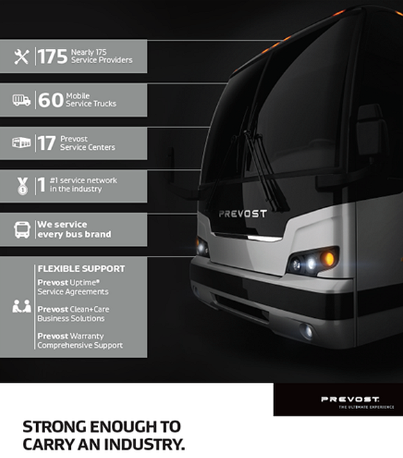 Never before has loyalty to customers and the motorcoach industry been more vital than during these unprecedented times. Through it all, Prevost remains committed, offering customers consistent support through the largest service network in the motorcoach industry.