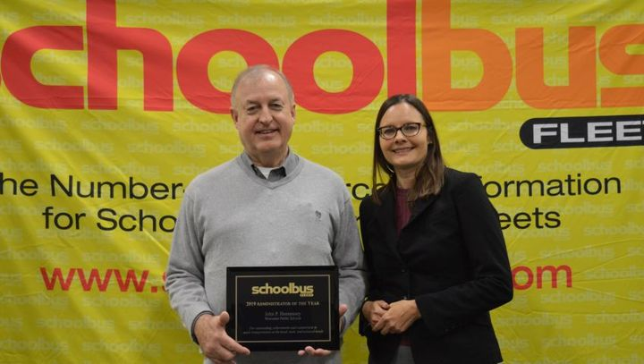 Last year's School Bus Fleet Administrator of the Year award went to John Hennessey,